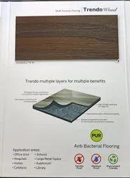Wooden Armstrong Sports Vinyl Flooring 3mm
