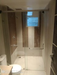 Openable Shower Glass Partition