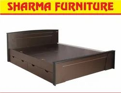 Chocolate Brown King Size Box Bed On Easy EMI At Sharma Furniture