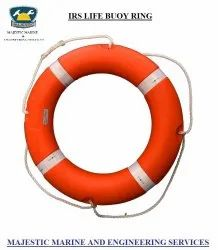 Orange PVC IRS / Solas Approved Lifebuoy Ring, For Ship, Round