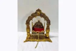 Golden Metal Oxidised Jhula Cradle, For Pooja And Worship Place., 600gms