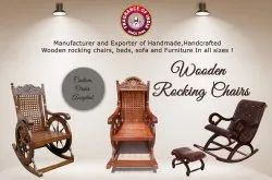 FOI Wooden Rocking Chairs, Finish: Polished