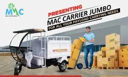 Mac Jumbo, Maximum Run Per Charge: 80-100 Km, Loading Capacity: 500-1000 Kg