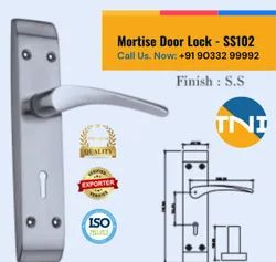 TNI Lever Stainless Steel Mortise Door Lock, Model Name/Number: SS102, Size/Dimension: 7