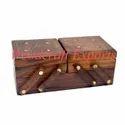 Brown Sheesham Wood Wooden Double Slide Box