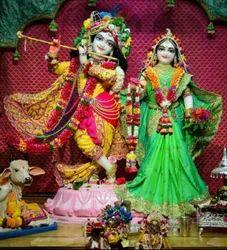 Radha Krishna Iskcon Marble Statue
