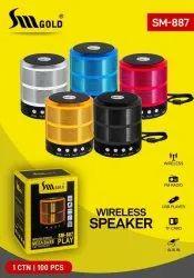 2.0 Multicolor Wireless Speaker, Size: Small