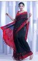 Casual Wear Plain Pure Cotton Pompom Saree, With Blouse