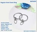Keychain ring with Oval Jumpring