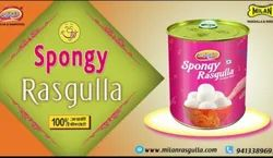 pooja sweets Spongy Millan Rasgulla, Size Available: Regular, Packaging Type: Tin Container
