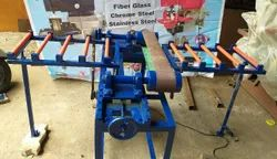 Glass Grinding Machine 6'' Belt With Both Sides Rubber Roller On Stand With Motor (With Out Motor)