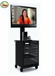Video Conference Cart With Cabinet, Tv Stand Carts