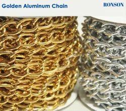 Golden and  silver Aluminium Chain