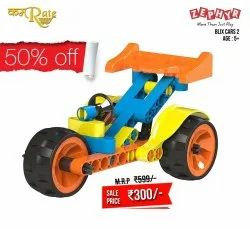 Blue Metal Tractor Toy, For INDOR