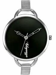 New Design Big Dial Mesh Stainless Steel Belt Ladies Watch Womens Wrist Watch