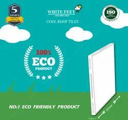 White Cooling Terrace Tiles- White Feet Tile - Elite Gold