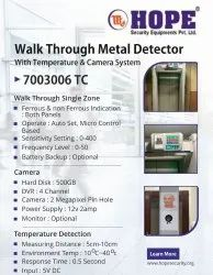 Door Frame Metal Detector With Temperature And Camera System