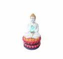 Gautam Buddha Statue With Pink Lotus Fountain