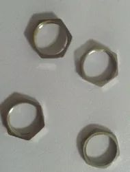 Hexagonal Stainless Steel 304 Hex Thin Pipe Nut, Thickness: 10 mm