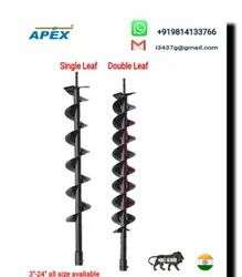 Earth Auger Double Leaf