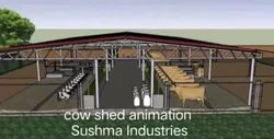 Cow Dairy Farm Shed