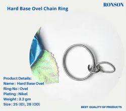 Hard Base Keyring with  Oval jumpring