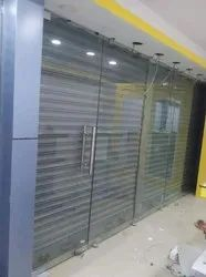 Saint Gobain Hinged Toughened Glass Door, For Office, Thickness: 12mm