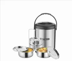 4 Tier Stainless Steel Lunch Boxes Deluxe-4C