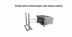 Double Station Twisted Paper Rope Making Machine