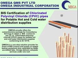 Consultancy for ISI Certification For CPVC Pipes for Potable Hot & Cold Water