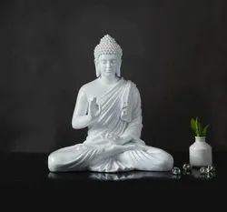 Spiritual White Shaded Buddha - Big Size