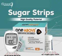 One Above Blood Glucose Sugar Test 50 Strips