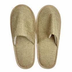 Hotel Jute Slippers 6 mm Closed Toe (Brown)
