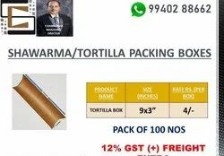 Shawarma Wrap Box Unprinted Kraft