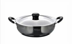 Hard Anodized Kadhai Stancia 4 Ltr With SS Lid
