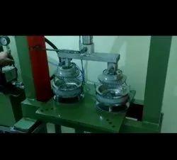 Semi Automatic Hydraulic Double Die Plate Making Machine