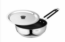 Stainless Steel Non Stick Fry Pan Aura-1.5 Ltr