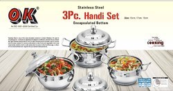 Stainless Steel 3 Pcs Handi Set