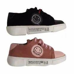 Ladies Lace Up Canvas Shoes, Size: 36-41