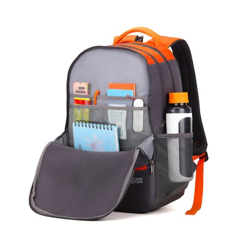 5cf469c9007b5d American Tourister 32 Ltrs Grey Casual Backpack (AMT Fizz SCH Bag 02 - Grey)