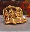 Shree Ganesh Laxmi Saraswati Metal Statue