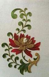 Hand work flower