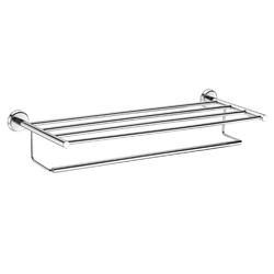 Urban Stainless Steel Polished Towel Rack With Rod, Packaging Type: Box