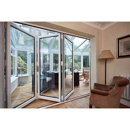 Upvc Bi Folding Door, Unplasticized Polyvinyl Chloride Bi Fold Door ...