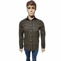 Vida Loca Mens Party Wear Check Shirt, Size: 36 to 42