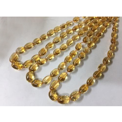 Citrine Plain Tumbled Stone Bead