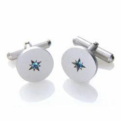 Natural Blue Topaz Handmade Cufflinks For Mens Birthstone Nice Topaz Genuine Cufflinks
