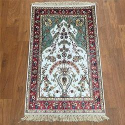 Printed Kasmiri Floor Carpet, Shape: Rectangular