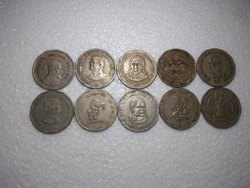 19th Century Copper 2 Ruppes Commeravative Coins