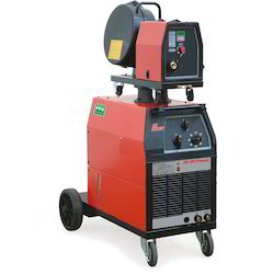 Red MIG 350 Dual Pulse Welding Machine, Voltage: 230 - 400 V, Current: 50 - 500 A, Weight : 90 kg